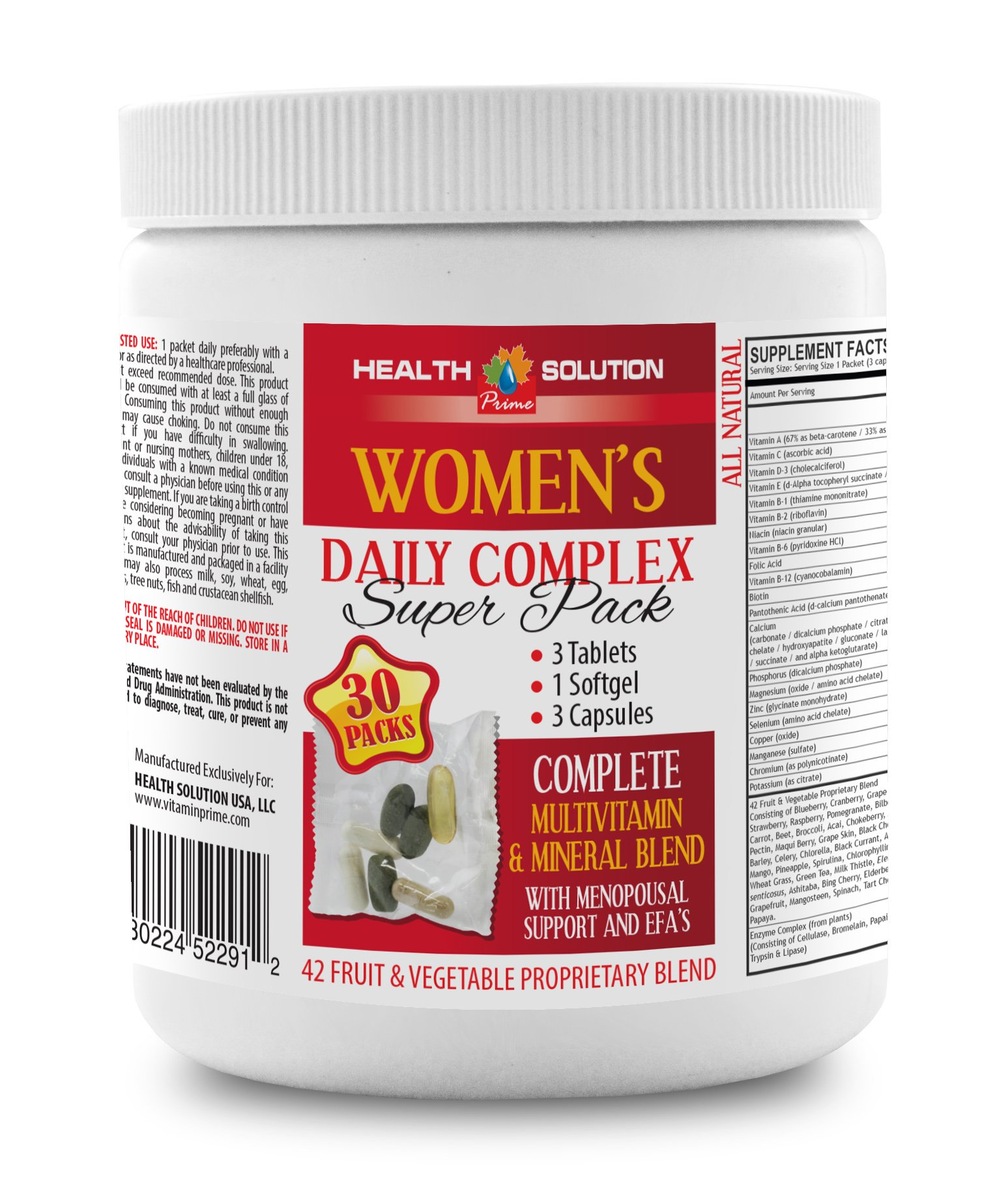 Nail Hair and Skin Supplement - Women's Daily Complex - Super Pack - Green Tea Weight Loss Supplements - 1 Can 30 Packs (210 Pills)