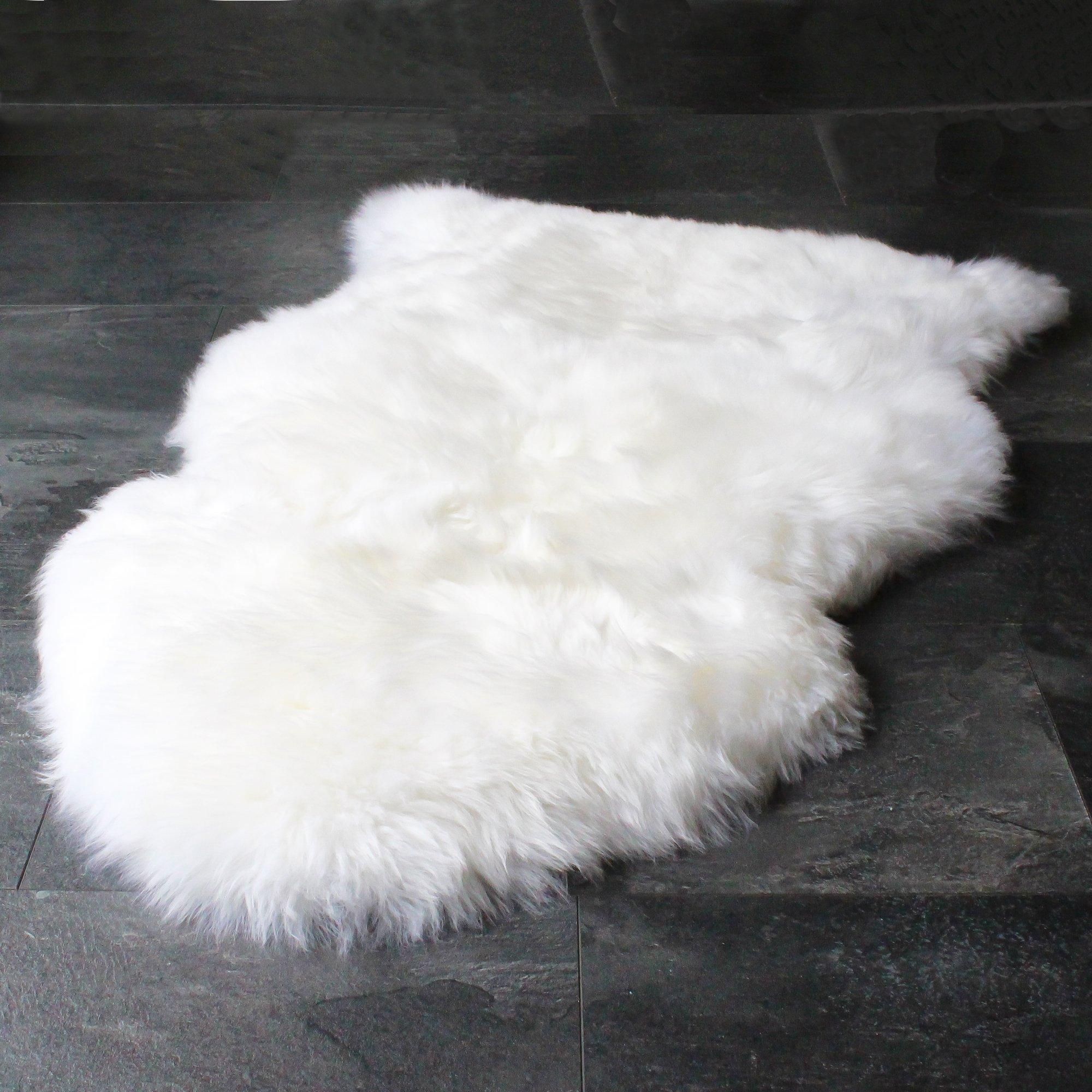 Sheepskin Rug Cleaners: Sheepskin Rug Genuine Soft Natural Merino + Care Cleaning