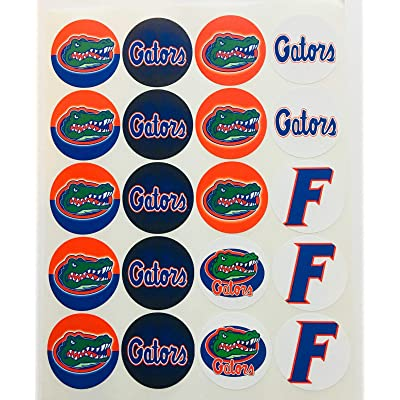 """Set of 20 Decals Florida Gators 2"""" Each Adhesive Sticker for Cups, Bags, lockers, Water Bottles, laptops: Kitchen & Dining"""