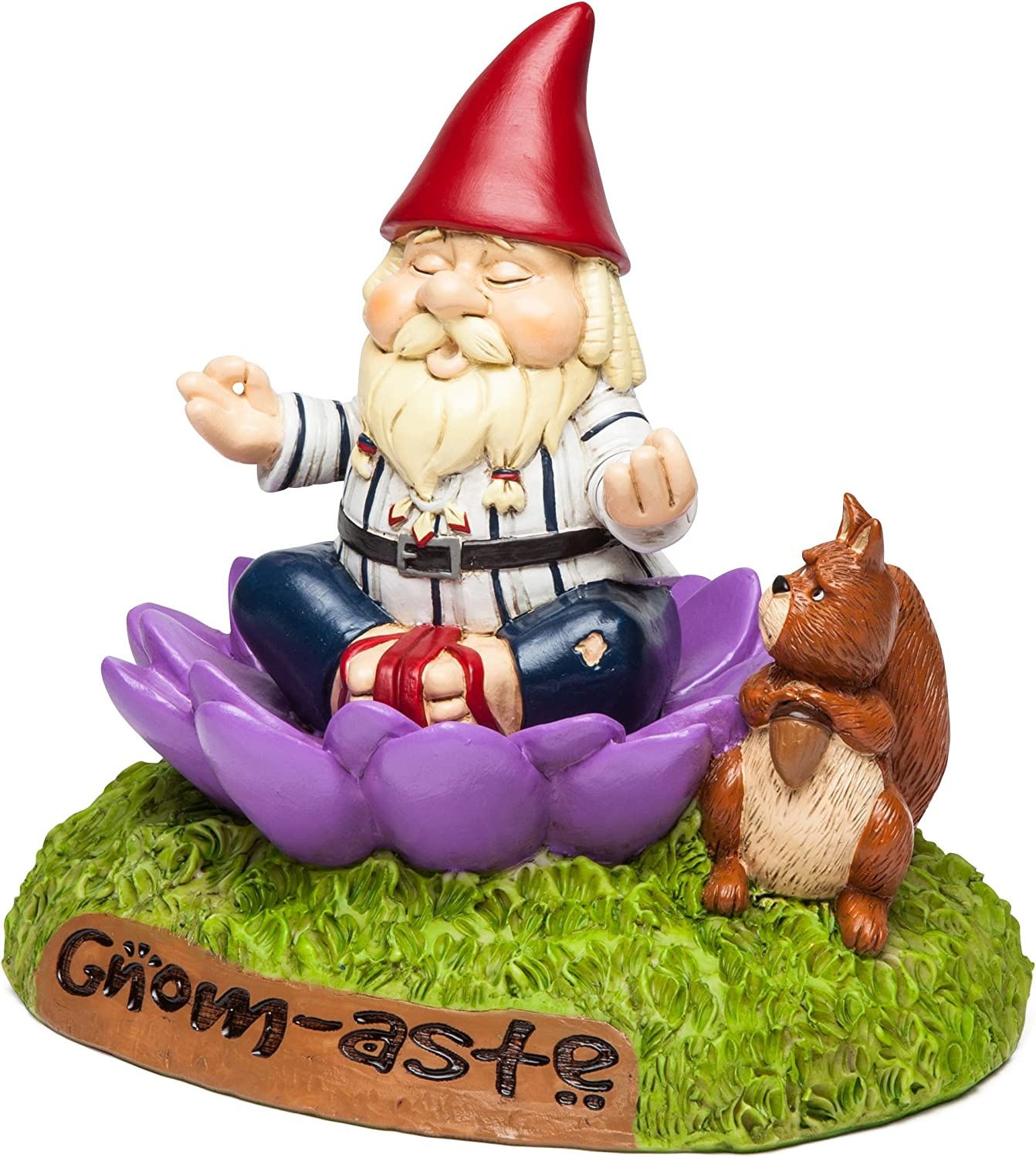 """BigMouth Inc. The Gnome-Aste Meditating Garden Gnome - Funny Weatherproof Garden Decoration, Makes a Great Gag Gift – 7"""" Tall"""