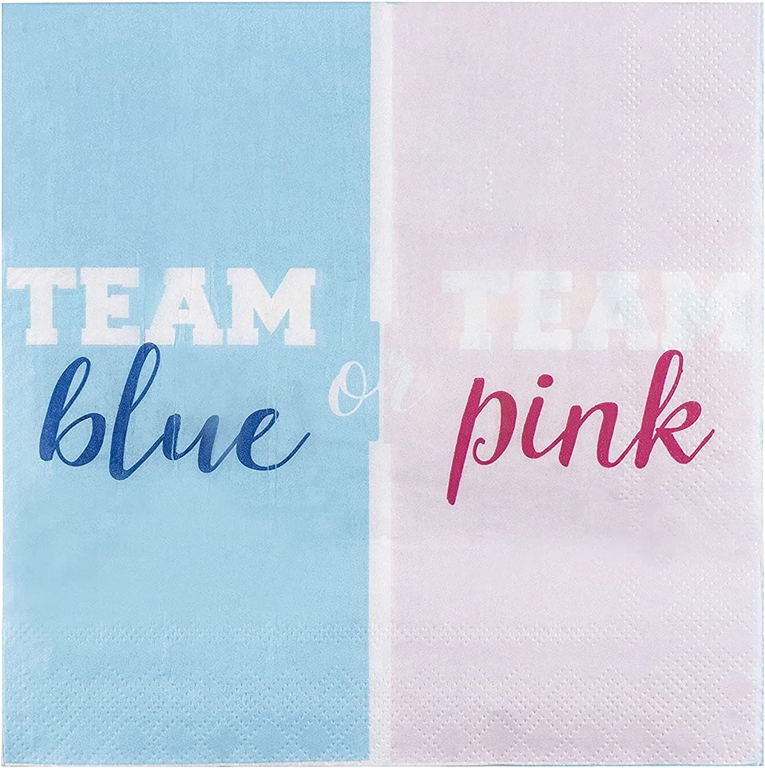 Gender Special price Reveal Party Supplies Luncheon In 6.5 Napkins x 15 Popular products
