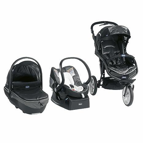 Chicco 04079501680000 Trio S3 Tecna - Carrito de bebé convertible, color negro