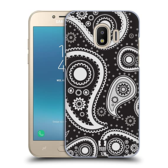 Head Case Designs Black Paisley Patterns Series 2 Hard Back For Samsung Galaxy J2 Pro