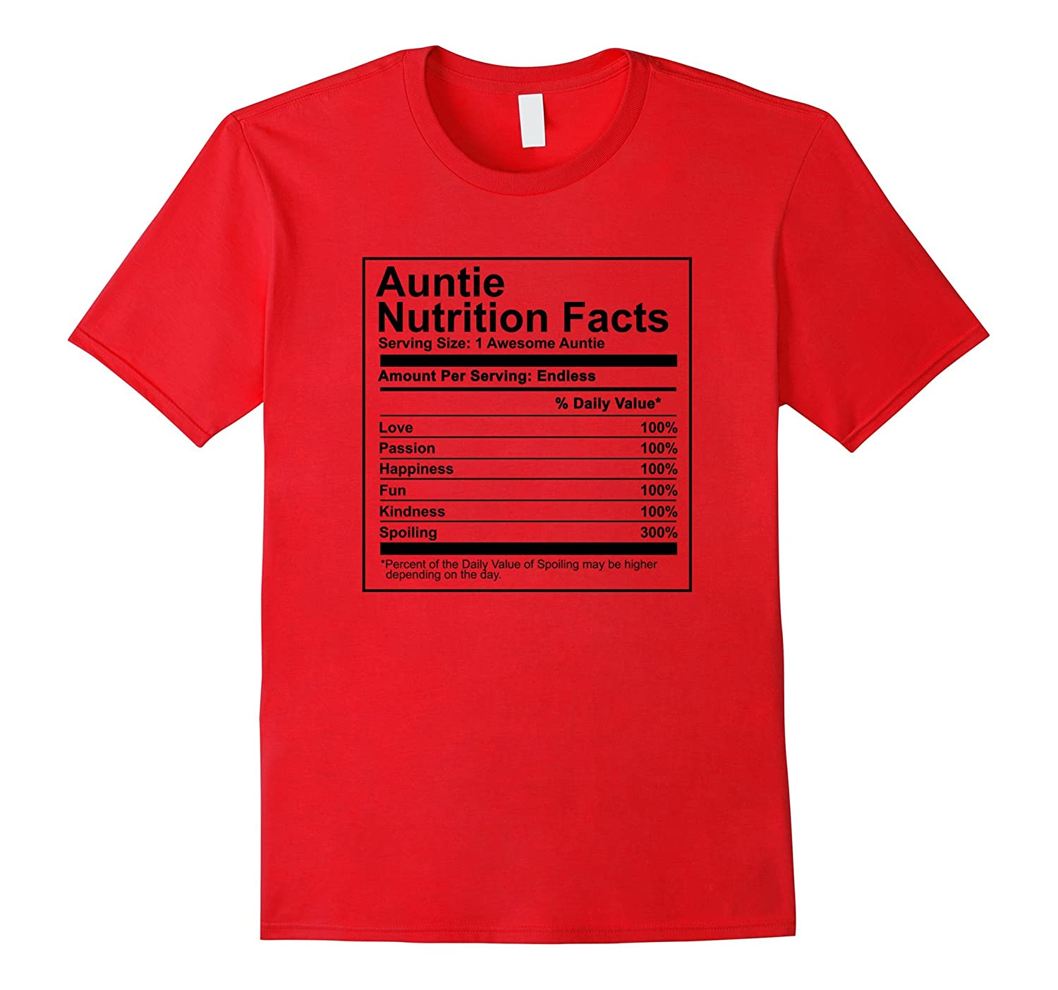 Auntie Nutrition Facts Shirt - Nutritional Mothers Day Gift-TH