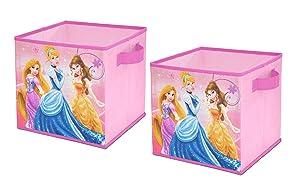 DisneyPrincess Storage Cubes, Set of 2, 10-Inch