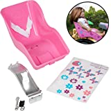 """Doll Bicycle Seat - """"Ride Along Dolly"""" Bike Seat with Decorate Yourself Decals (Fits American Girl a"""