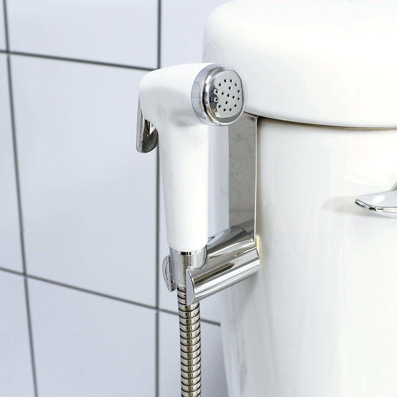 hot sale 2017 MODONA Premium WARM Water Diaper & Bidet Sprayer Complete Set - White & Polished Chrome