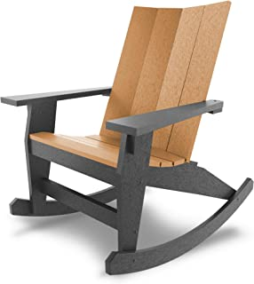 product image for Hatteras Hammocks Adirondack Rocker, Black and Cedar