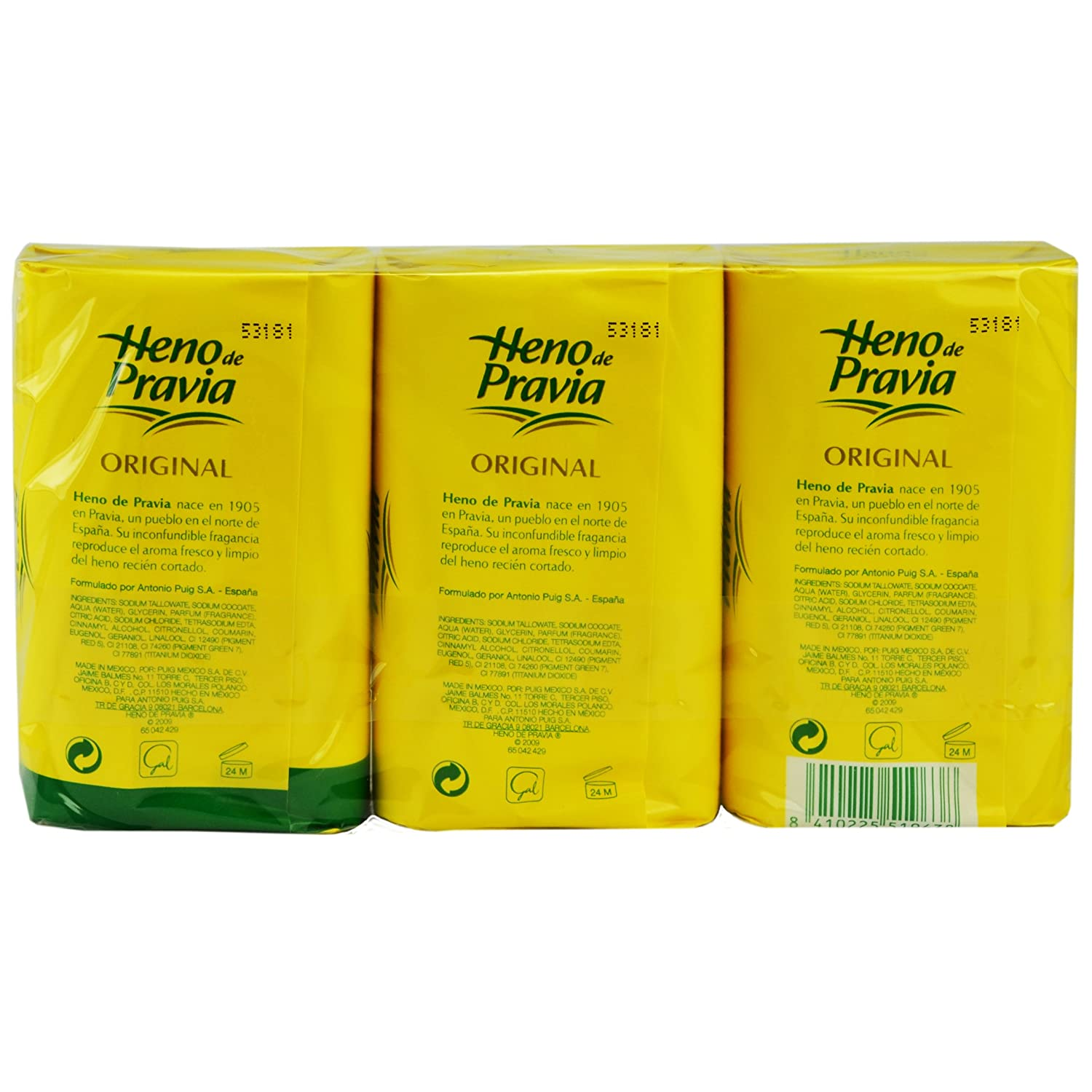 Amazon.com : Heno de Pravia Natural Bath Soap 4oz (3 Soaps Total) : Beauty