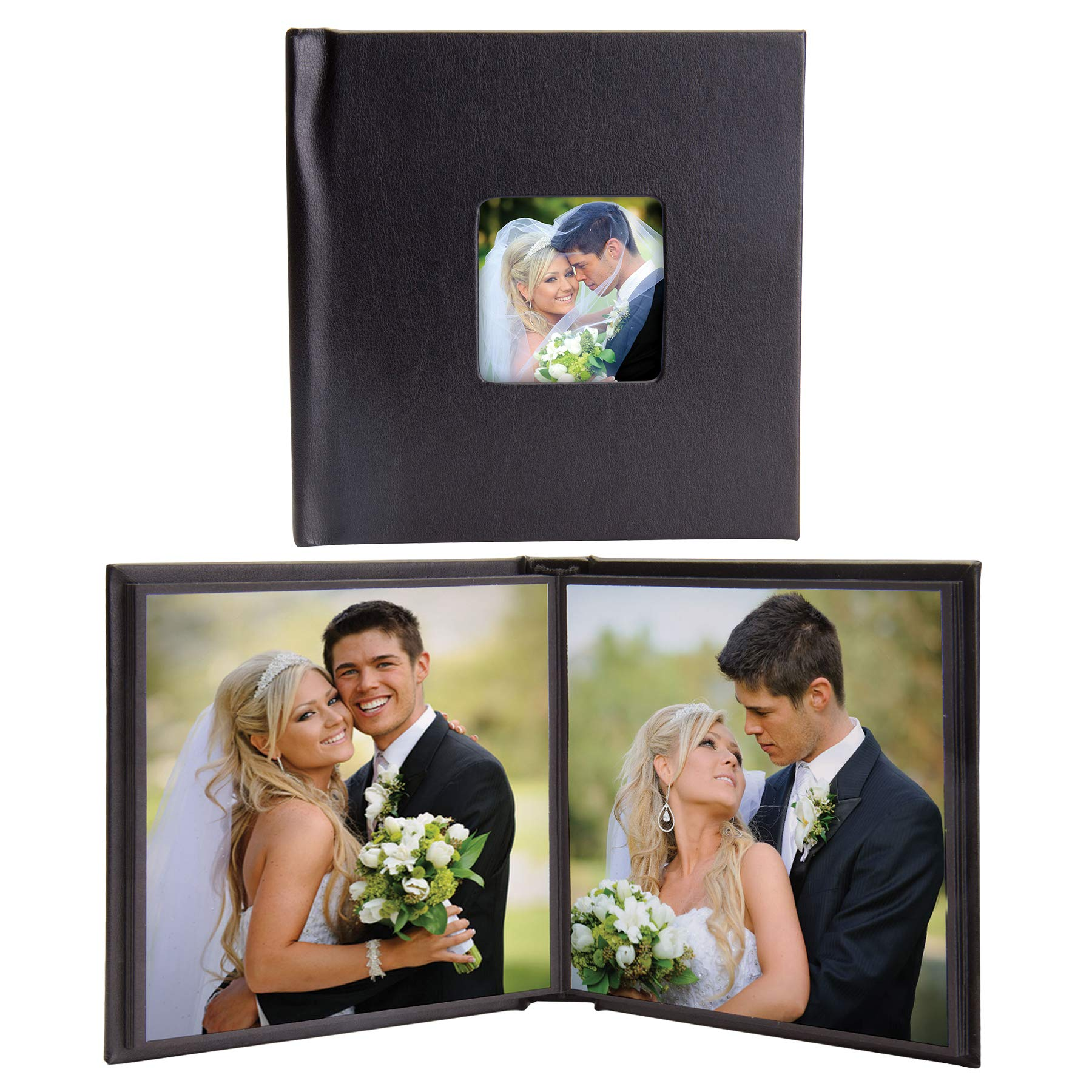 5x5 Square Self-Stick Photo Albums with Cameo Cover - Case of 12 by Neil Enterprises
