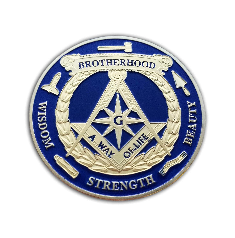 Eillwin New Brotherhood Masonic Collectible /& Commemorative Beautiful Souvenir Coin