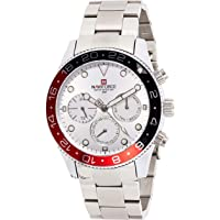 Naviforce Men's White Dial Stainless Steel Analogue Classic Watch - NF9147-SW