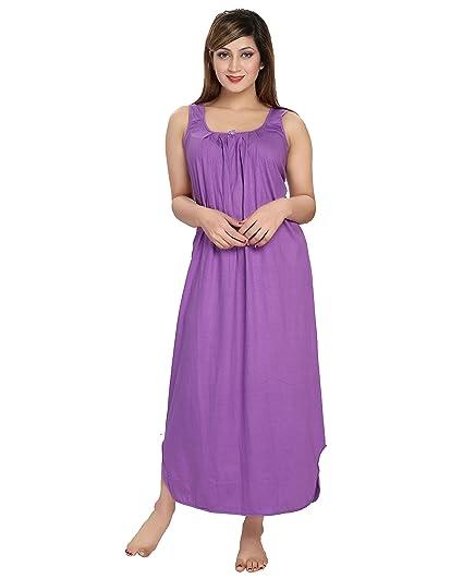 7b1169dea Inner Beats Women s Cotton Sleeveless Nighty (PSN005