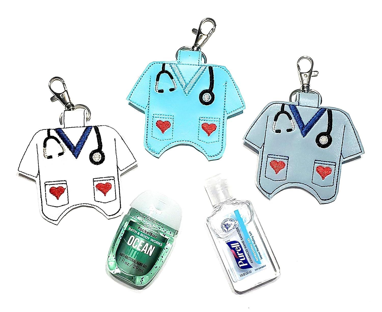 Pocketbac Holder Stethoscope Hand Sanitizer Keeper Sanitizer Case Scrub Top Hand Sanitizer Holder Nurse Hand Sanitizer Clip