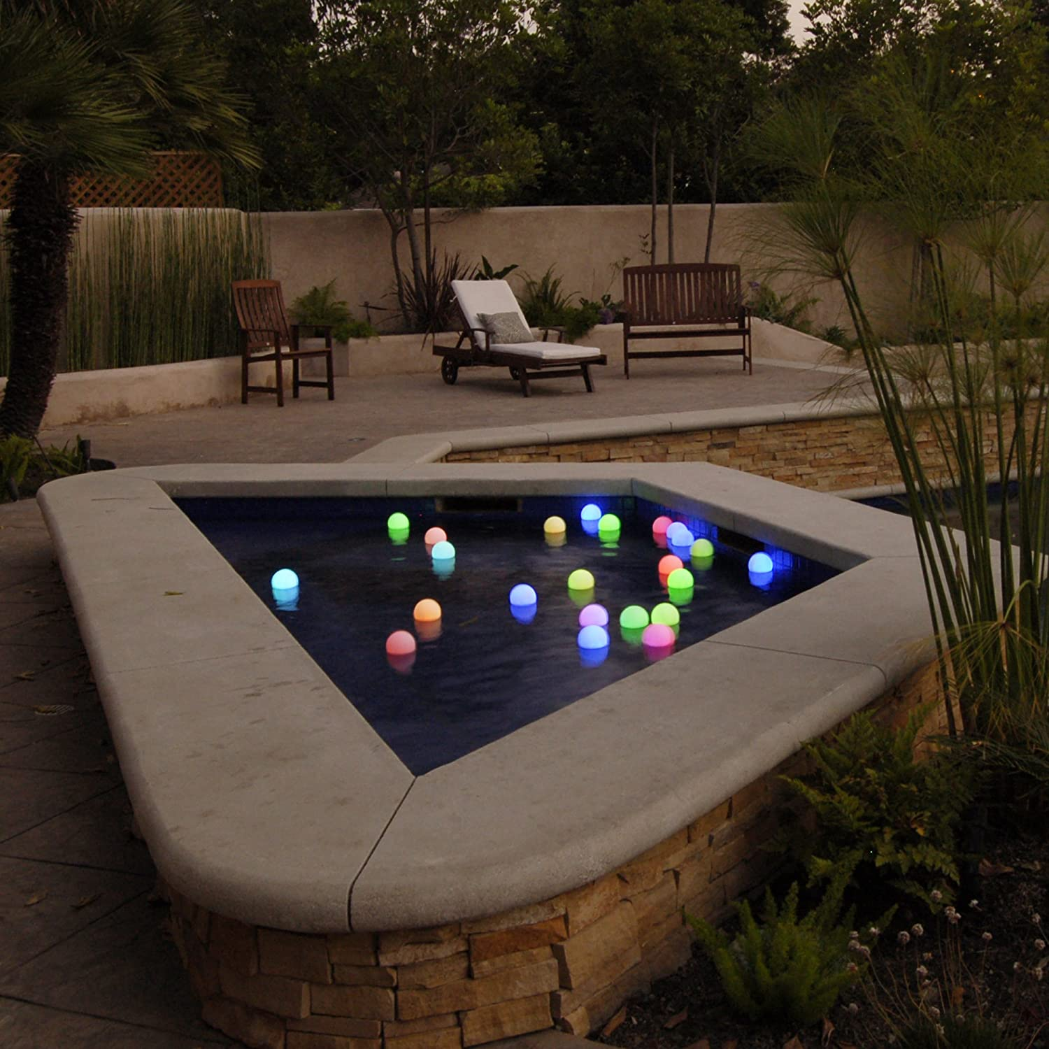 floating light balls for pool