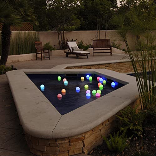 Set of 12 Mood Light Garden Deco Balls- Battery Operated 3