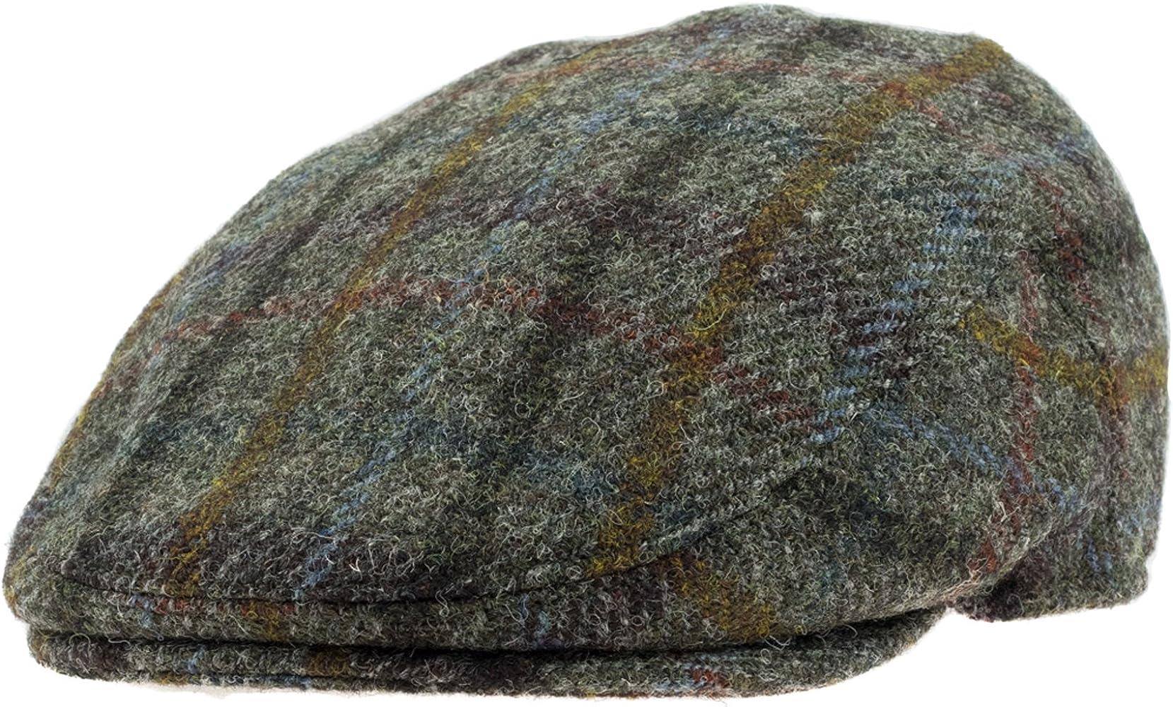 Failsworth Hats - Gorra Plana de Tweed Harris - 55-5090 Grey/Green ...
