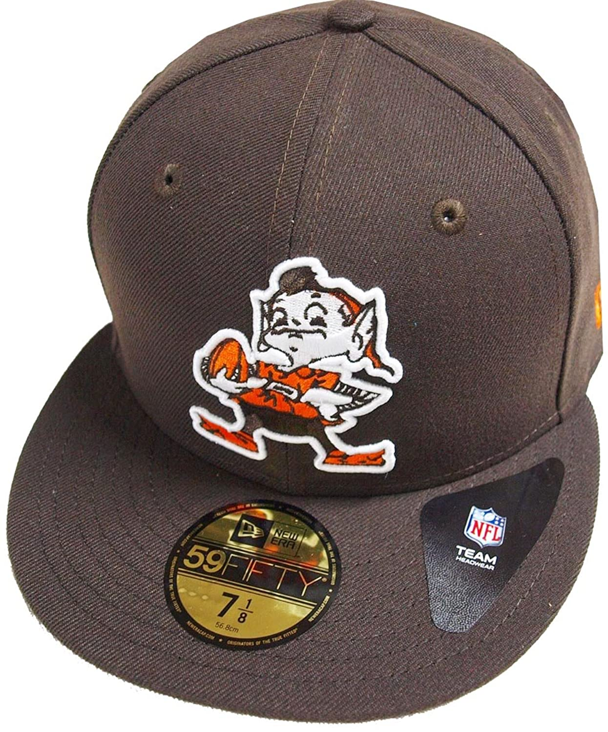 A NEW ERA Cleveland Browns CC Logo NFL Cap 59fifty 5950 Fitted Basecap Kappe Men Special Limited Edition