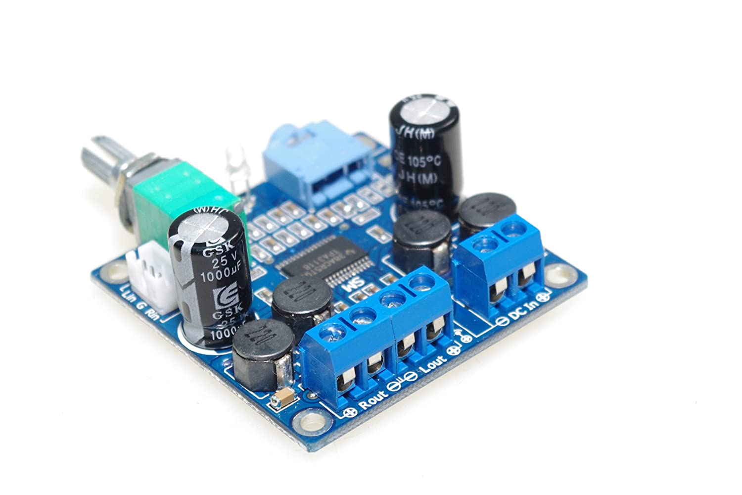 Smakn Tpa3118 Numeric 12v Power Amplifier Board Class D Circuit Tpa3116d2 Tpa3118d2 Subwoofer Finished With Switch Potentiometer Parallel Mono Musical Instruments