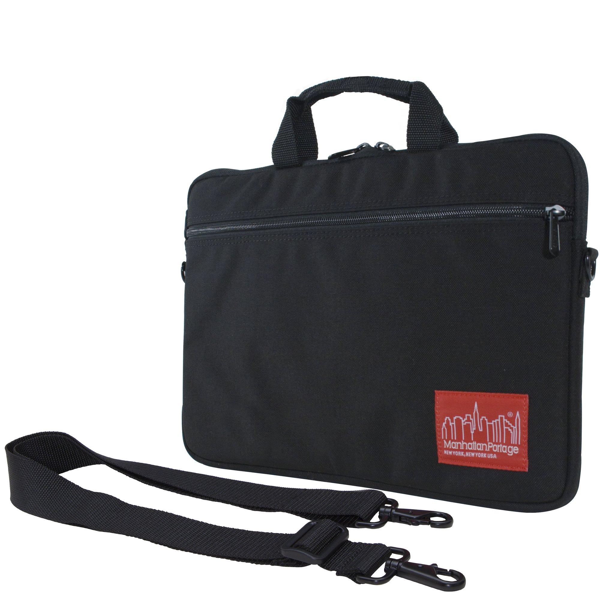 Manhattan Portage Convertible Laptop Bag (Black, Small)