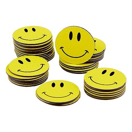 Smileyboard - Imanes circulares, 2 cm, 40 unidades, diseño ...