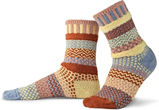 product image for Solmate Socks - Mismatched Crew Socks; Made in USA; Sandstone Small
