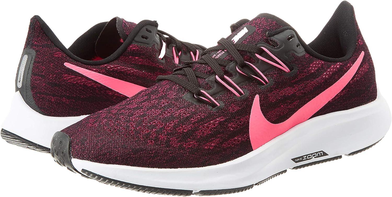 Nike Air Zoom Pegasus 36, Zapatillas de Running para Mujer, Negro ...