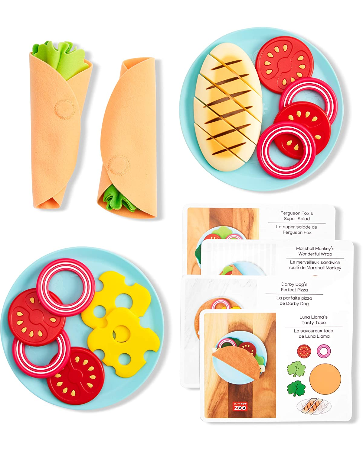Skip Hop Zoo Little Chef Meal Kit, Play Food Set