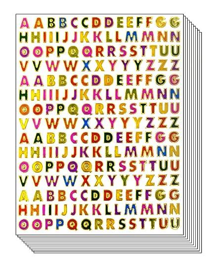 Amazon.com: A to Z Little Stickers High 0.6cm   Colorful Alphabet