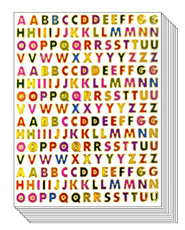 """2 Sets of Alphabet Letters A to Z 1/"""" Tall Vinyl Stickers Decals Select Color"""