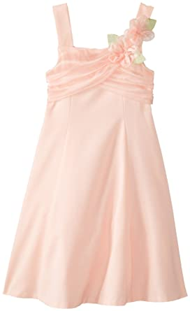 a9b3b720aa1 Bonnie Jean Little Girls 2T-6X Sleeveless Fit and Flare Linen Dress with Draped  Organza