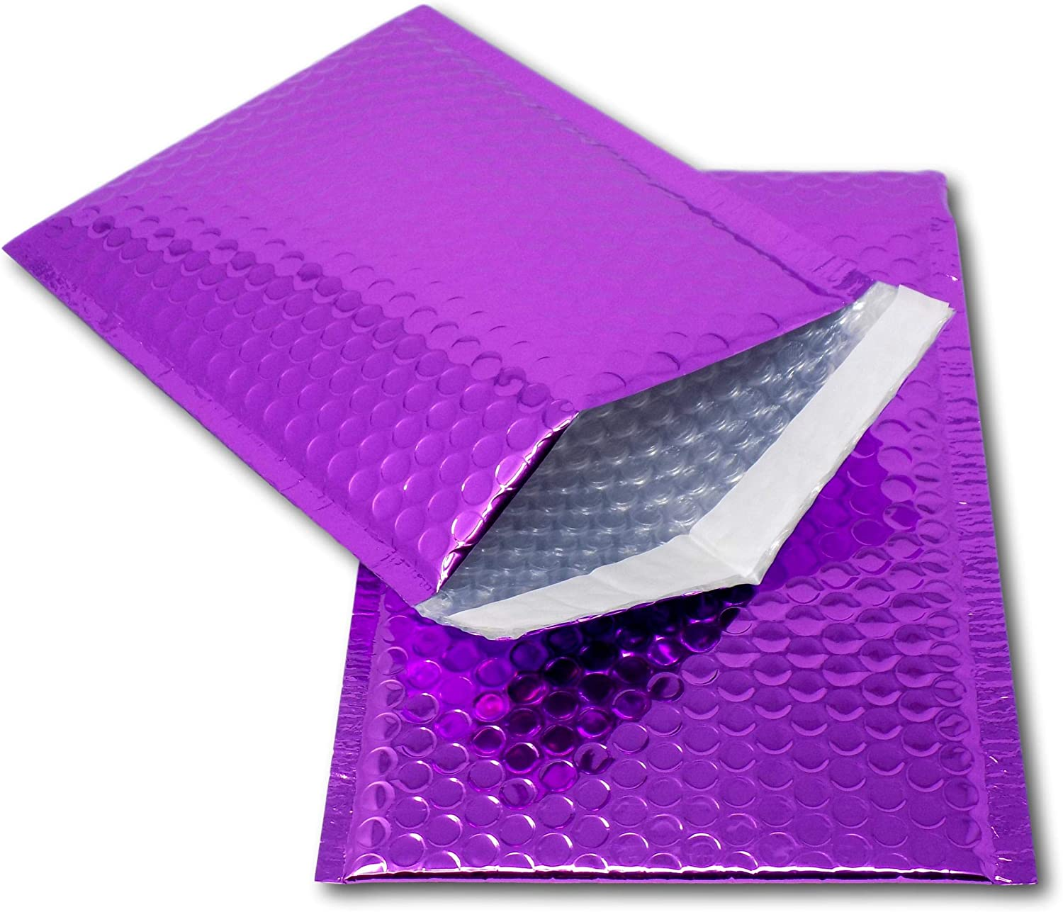 promotions or and alternative to gift wrap Perfect for marketing CD - 165mm x 165mm EPOSGEAR 5 Hot Pink Shiny Metallic Foil Bubble Padded Bag Mailing Envelopes