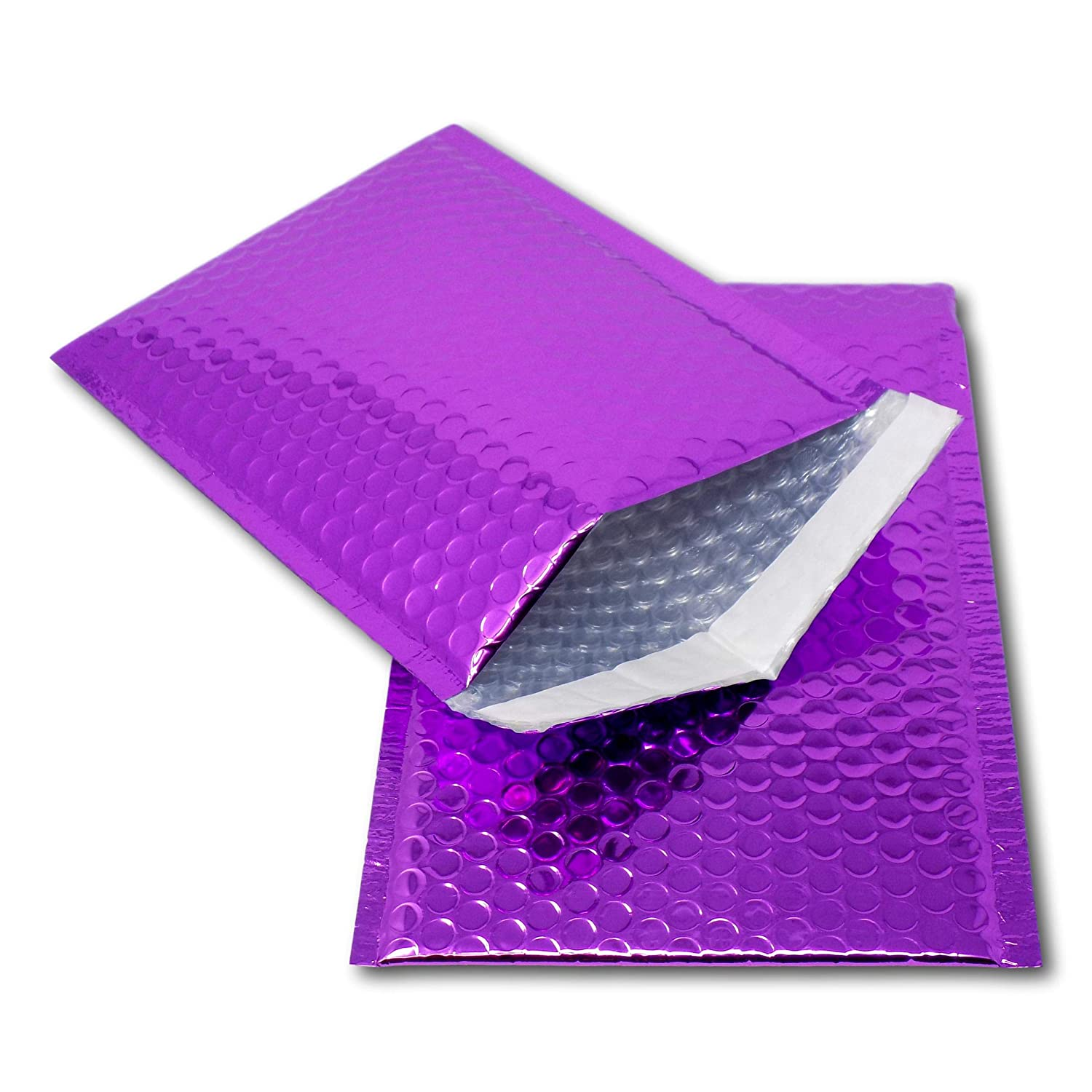 promotions or and alternative to gift wrap Perfect for marketing A3 // C3-450mm x 320mm EPOSGEAR 10 Purple Shiny Metallic Foil Bubble Padded Bag Mailing Envelopes