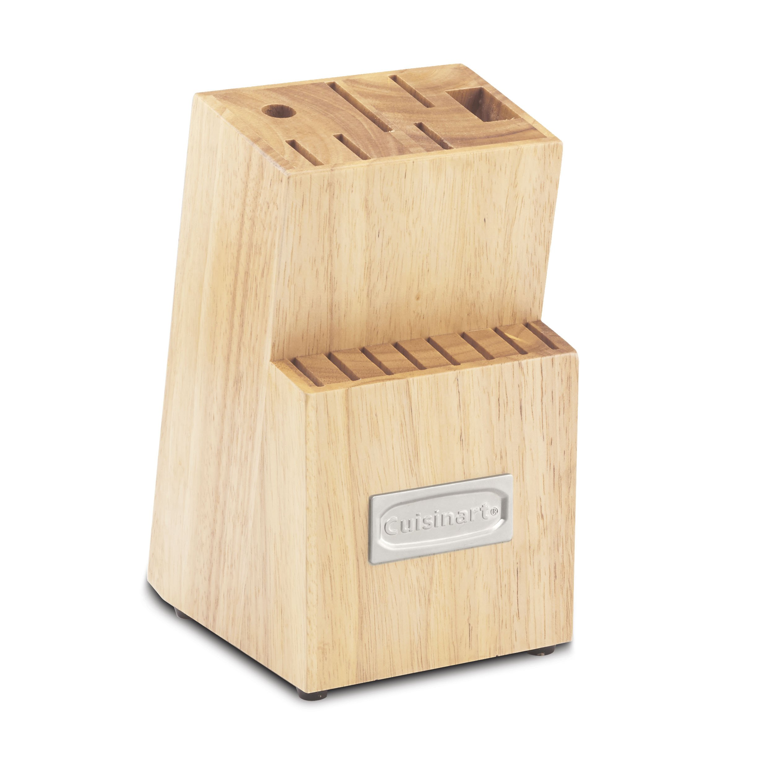 Cuisinart C77TR-14BLK Triple Rivet Collection 14-Slot Cutlery Block, Natural Wood