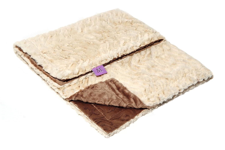 Magnolia Line Minky Baby Blanket Lux Brown by Magnolia Line   B00B88RJQQ