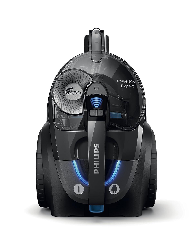Philips FC9742/09 Aspirador sin Bolsa, Bajo Consumo, con Tecnología Que Separa El Polvo, Cepillo TriActive+, 2 litros, Negro