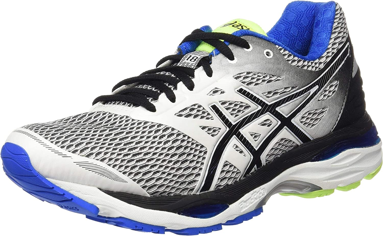 ASICS T6C3N0190, Zapatillas De Running para Hombre, Blanco (White / Black / Electric Blue), 39.5 EU: Amazon.es: Zapatos y complementos