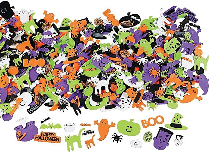 800 PCS Halloween Foam Stickers Glitter Foam Stickers Self Adhesive Stickers for Kids Halloween Party Crafts Decoration