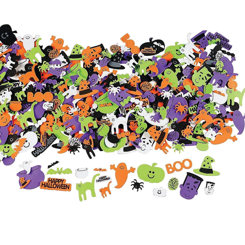 Otc 500 Assorted Halloween Foam Craft Stickers Self Adhesive Shapes