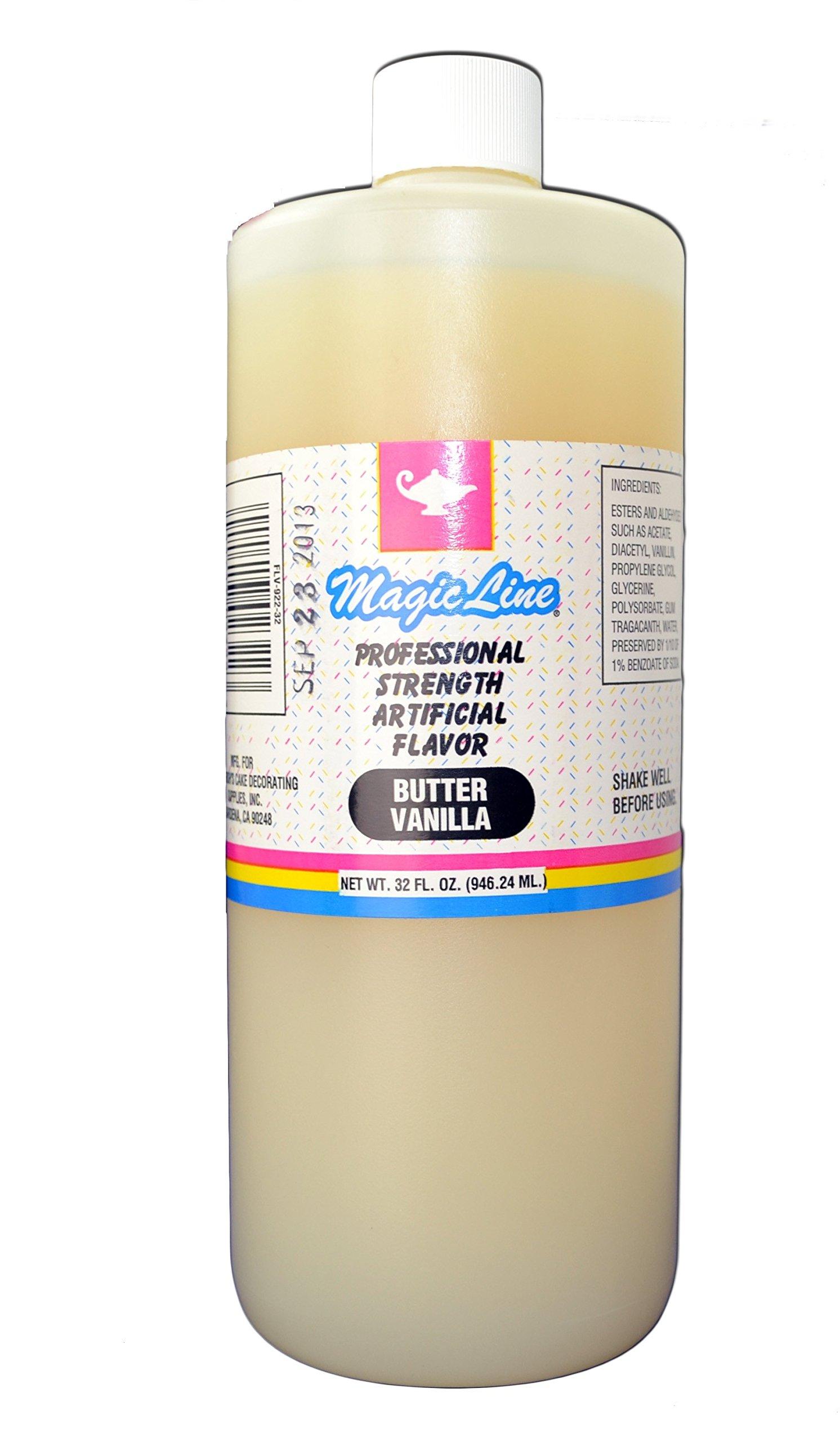 Magic Line Butter Vanilla Flavor 32 oz.