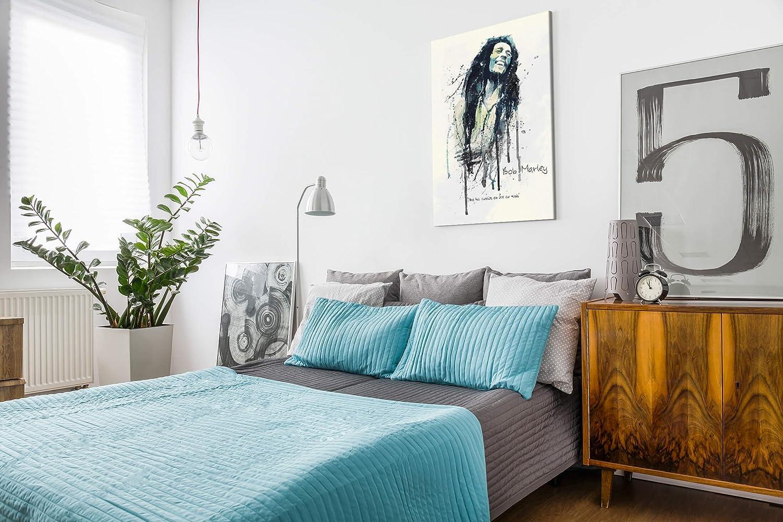 90x60cm Leinwandbild gespannt Toile Paul Sinus Art Impression sur Toile Bob Marley I 90 x 60 cm