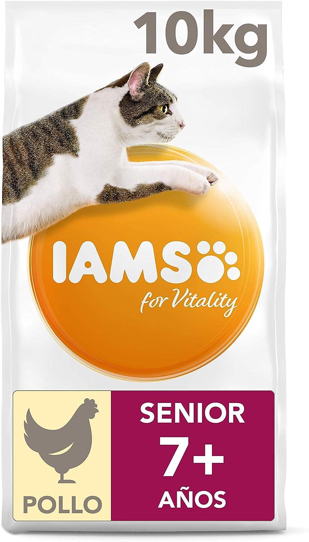 IAMS for Vitality Alimento para Gatos de Edad Avanzada con pollo fresco, 10 kg