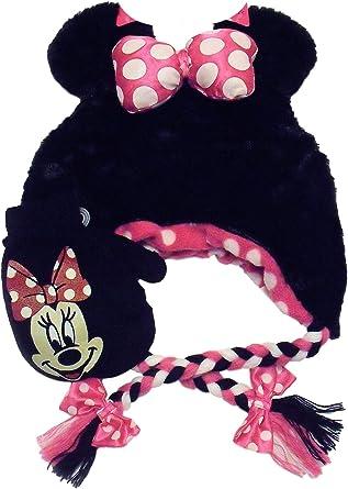 Disney Minnie Mouse Girls Winter Peruvian Beanie Hat