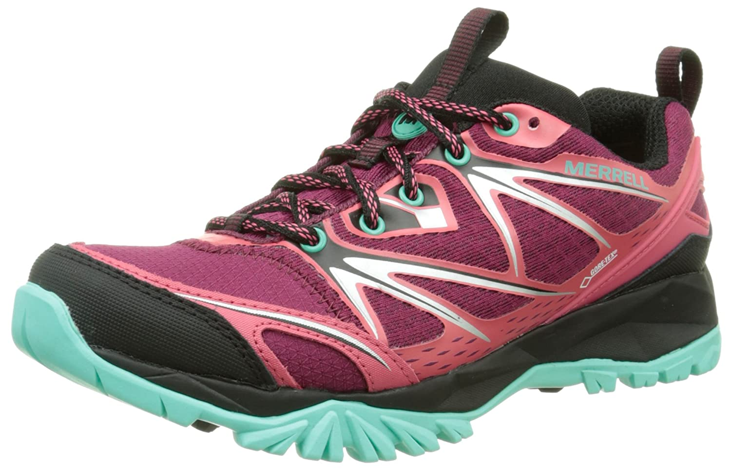 Amazon.com | Merrell Capra Bolt Gore Tex Womens Trail Running Sneakers/Shoes-Red-6.5 | Trail Running