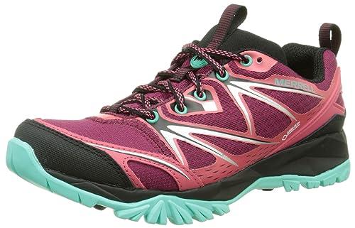 Merrell Capra Bolt Gore-Tex, Zapatos de Low Rise Senderismo para Mujer, Multicolor (Bright Red), 37 EU: Amazon.es: Zapatos y complementos