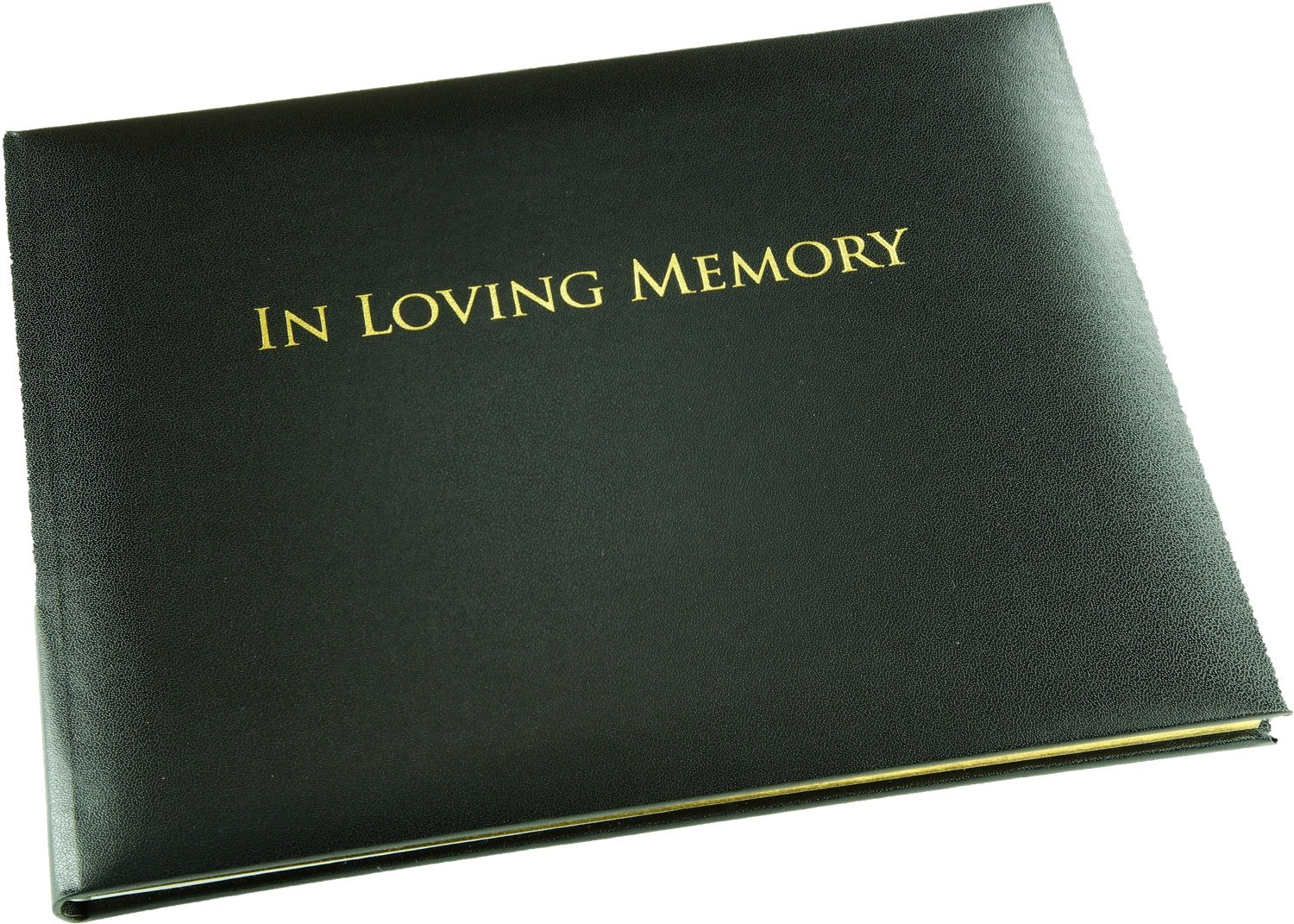 In Loving Memory Book - Black - Funeral Guest Book - Memorial Book - Presentation Boxed - (LARGE SIZE - Width 10.5 inch - Height 7.6 inch - Depth 0.6 inch)