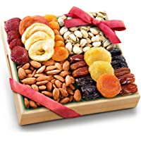 Pacific Coast Classic Dried Fruit Tray Gift with Almonds and Pistachios for Holiday Birthday Healthy Snack Business…
