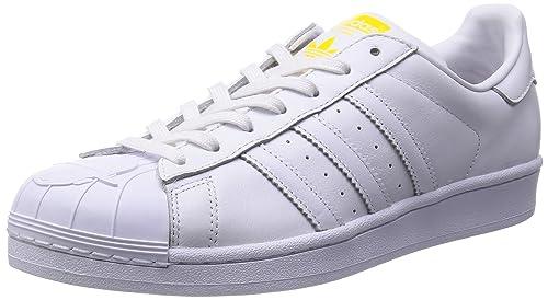 b747351b7 adidas Originals Men s Superstar Pharrell Supershell White Leather Sneakers  - 10 UK