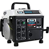 Pulsar 1,200W Carrying Handle, PG1202S Gas-Powered Portable Generator, 1200W, Black/White