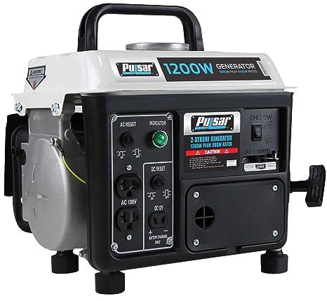 pulsar 1,200w carrying handle, pg1202s gas powered portable generator, 1200 watts, black white  honda 12000 watt portable generator wiring diagram #10